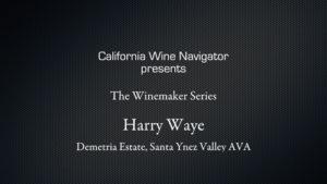 Winemaker Harry Waye